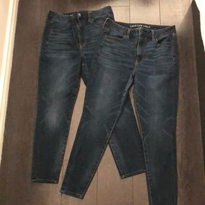 Size 12 short AEO skinny jeans x 2